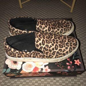 Cheetah Print Slip Ons